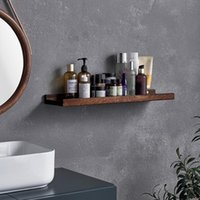 Hooks & Rails Wooden Storage Holder Wall Hanging Book Shelves Living Room Decor Display Stand Bathroom Organizers Kitchen Shelf