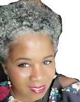 Salt and pepper silver grey puff ponytail real hair extension Natural highlight dye free gray human hairpiece bun chignon updo 120g 100g 140g afro curly