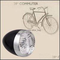 Велосипед Велоспорт Спорт Спорт на открытом воздухе Bike Lights Classic LED Винтажные фары Велосипеда Ретро Голова Света Передняя противотуманная лампа Asessories Ciclismo Light1 Dr