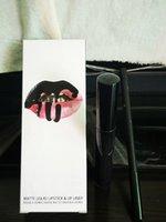 Halloween lèvres gloss maquillage morte de chevalier mate liquide lèvres lèvres kit de linge de lèvres pleine taille naturelle hydratante naturelle étanche étanche cre crémeux cosmétiques ensemble en 2 pièces