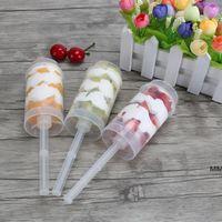 Clear Cake Tube Box push Up Контейнеры одноразовые пластиковые стаканчики мороженого мороженого инструменты для приготовления пищи HWF7196