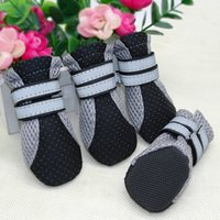 4 pcs Small Dog Shoes Puppy Boots Reflective Anti Slip Cats Pet Socks Sneaker Paw Protector For Chihuahua Yorkshire