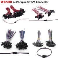 5-100 pairs 2pin 3pin 4pin 5 pin JST SM Erkek / Kadın Connecter LED Şerit Işık Lambası Sürücü Için 15 CM Telli