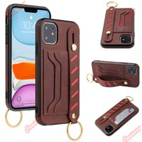 Comincan PU Wallet Case with Wrist Strap Holder for iPhone 12 11 Pro Max x xr 7 8 Plus Leather Case new