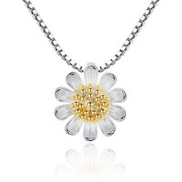NEHZY 925 Sterling Silver Women's Fashion New Jewelry High Quality Retro Simple Chrysanthemum Pendant Necklace Long 45CM 2294 Q2