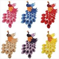 Bordado flores de pavo real coser en parches cosido apliques de coser insignia artesanal bordado bricolaje para pantalones de ropa thy2584