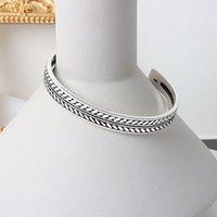 Braccialetto vintage tibetano argento color design semplice design classico braccialetto foglia foglia modello braccialetto bracciale da polsino per le donne gioielli 390 q2