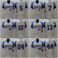 Mens 5 Freddie Freeman Baseball Jerseys 7 Dansby Swanson 10 Chipper Jones 13 Ronald Acuna JR 24 Deion Sanders 44 행크 아론 스티치 쿨베이스 팀 화이트