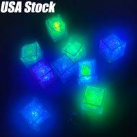 Mini LED Cubo de Gelo Multi Color Multi Flash Luzes Flash Cubos de Cristal para Festa Casamento Evento Barras Chirstmas Decorações De Festa de Halloween