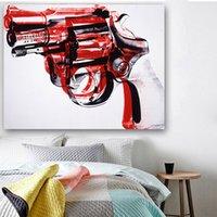 Abstrait Pistolet Peinture 2018 Andy Warhol Wall Art Pictures pour salon Pop Toile POP Toile Esprit et affiches Décor de la salle NonFramed