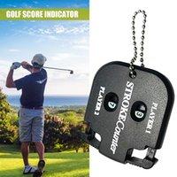 Golf Training AIDS Scorer Counter doppelte Zifferblatt Praktische Hand Manuelle Keeper Electronic S Aid Small Black Color