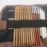 اللوحة اللوازم 29 قطع رسم أقلام الفحم الموسع ممحاة ورقة القلم القاطع الرسم مجموعة بيع T 7CQ2
