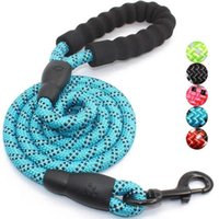 Strong Pet Dog Leash Climbing Rope Reflective Thread Night Safe Padded Handle Nylon Running Leashes For Small Large Dogs Collars &