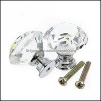 Pls Building Supplies Home & Gardencabinet Knob Handle 30Mm Diamond Shape Crystal Glass Der Kitchen Door Wardrobe Hardware Pl Handles Drop D