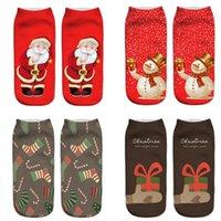 Christmas 3D printing socks children adult Xmas Tree snowman Santa Claus print Boat sock cotton Unisex bobbysocks 62 styles Z4072