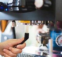 5.5 inç Kahve Makinesi Temizleme Naylon Fırçalar Öğütücü Espresso Grim Plastik Kolu Klavyeler Mutfak Temizleyici Araçları HWF7378