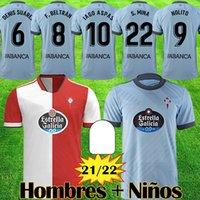 2021 2022 RC Celta de Vigo Jerseys de fútbol Lobotka Iago APAS SANTL MINA 21 22 Camisa de fútbol para niños Sisto Boufal Camiseta Futbol Top Kit de calidad