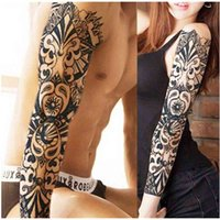 Full Arm Flower Tattoo Sticker Waterproof Temporary Sleeve Men Women Body Paint Water Transfer Fake Tatoo