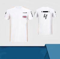 2021-F1 Team Norris Pilote à manches courtes à manches courtes, de course de course, t-shirt à séchage rapide en polyester, le même style peut être personnalisé