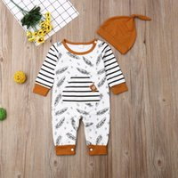 Clothing Sets UK Kids Baby Girl Boy Outfits Set Long Sleeve Romper Jumpsuit Clothes Feather
