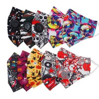 Halloween Pattern Cotton Dust Belt Breathing Vae Can Put Filter Graffiti Adult Breathable Personalized Mask
