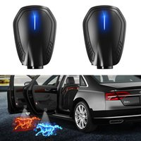 Universal Wireless Led Car Door Welcome Laser Projector Logo Ghost Shadow Night Light Accessories With Built-in Battery Interior&External Li