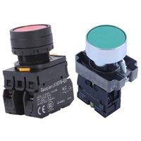 Contrôle de la maison intelligente 1pcs 22mm 1 Non N / O Signe vert Moment Bouton Push Switch 600V 10A ZB2-BA31 YW1B-M1E11PR Signal rouge