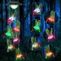 Solarlampen wasserdicht Hummingbird Dekor für Gartenhof, Gartengeschenke, Gartengeschenke an Mama Oma Mutter Frauen Geburtstag Weihnachten