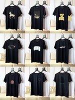 2021 여름 남성 디자이너 티셔츠 캐주얼 남자 여자 편지와 함께 맛있는 티셔츠 짧은 소매 탑 판매 뚱뚱한 큰 패션 럭셔리 남자 의류 크기 -6XL