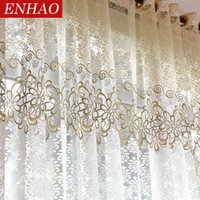 Цветочный современный прозрачный тюль занавес для гостиной спальня кухонные вуаль явные шторы для окна тюль шторы DSF0391