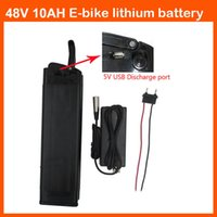 48V 500W batteria al litio 48V 10AH bici elettrica della batteria con il caricatore Port 54.6V 2A USB 5V e 15A BMS scarico di fondo