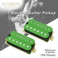 NAOMI 2pcs 50 52mm Humbucker Pickup Electric Guitar Pickups Set For ST LP Style Guitar Replacement Ceramic Magnets Pickups