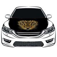 Leopard-Foto-Flagge-Auto-Kapuze-Abdeckung3.3x5FT / 6X9FT 100% Polyester, großformatige Motorflagge, Autowerbung, elastische Stoffe können gewaschen werden