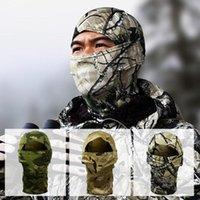 Tactical Full Face Mask Uomo Inverno caldo collo guarda Sciarpa Camouflage Cappello a secco rapido Cappuccio Cappuccio Militare Paintball Copricapo Cycling Caps Maschere