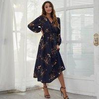 Casual Dresses Autumn Women Shirt Dress Long Sleeve Loose Vintage Ladies Clothing Streetwear Print Black 2021 Spring Vestidos
