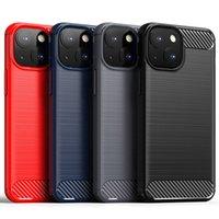 Fibra de carbono suave TPU Caja de silicona de goma protectora híbrida a prueba de golpes a prueba de choques de armadura robusta para iPhone 13 Pro Max 12 Mini 11 XS XR x 8 7 6 6S PLUS SE