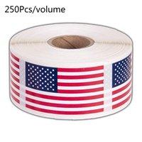선물 랩 250pcs / 롤 미국 국기 스티커 미국 애국 인감 레이블 봉투 스크랩북