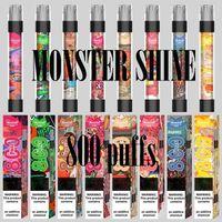 Mostro Shine 800 Flash Flash Sigaretta Electronic Diapositiva monouso Penna con batteria da 550 mAh e baccello da 3,0 ml