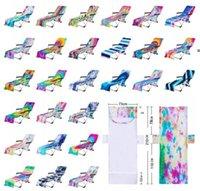 Tie Dye Beach Chair Cover con tasca laterale Colorful Chaise Lounge Asciugamani Coperchi per Sun Lounger Pool Sunbathing Garden Sea spedizione Mare NHC7572