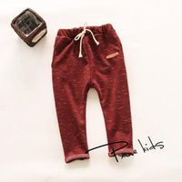 Trousers 2021 Girls & Boy Harem Capris Pants For Age 2-7 Cute Candy Color Terry Child Clothing Solid Kids Children Long