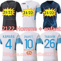 Olympique de Marseille Soccer Jersey 2021 2022 om Marseille de Mailleot Payet Foot Thauvin Benedetto Polo Jerseys 21 22 Kamara Milik Shirts