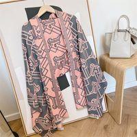 2022 модные бестселлеры женский Xin Scarf, осень / зима теплые кашемировые напечатанные длинные шарфы 180 * 65см