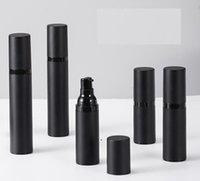 Boş Sprey Pompa Şişesi Siyah Plastik Havasız Losyon Şişeleri Olarak Buzlu 15ml 30ml 50ml Kozmetik Subbottle NHF6133