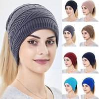 Beanie Skull Caps 2021 Cotton Autumn Winter Pullover Hats Knitted Woolen Scarf Dual Use Hat Men Color Women Turban Fash Z9j5