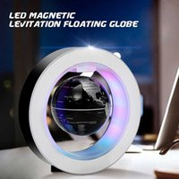 4 Inch Illuminated Magnetic Levitation Floating Globe Earth Map Electric Led Light World Globe Map Home Office Desktop Decor Q0525