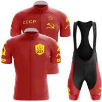 2021 Cccp Team Cycling Jersey Set Summer Clothing Road Bike Shirts Suit Bicycle Bib Shorts MTB Wear Maillot Ropa