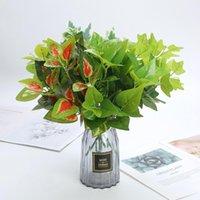 Искусственные растения Green Bonsai Небольшое дерево Вилкости Моделирование Трава Пластиковые Листья плюща Поддельный Цветок Для Свадьбы Домашний Стол Обелок Декорс Декоративный поток