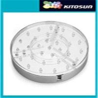 문자열 20cm 직경 31pcs 5mm 화이트 LED 센터 피스 LED 꽃병 라이트 실버베이스, 클리어 ABS 플라스틱, 미러 센터