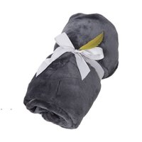 Autumn And Winter Woollen Blanket Pure Color Flannel Single Office Nap Air Conditioning Blankets HOWE7546