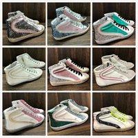 Itália Marca Golden Slide Slide Sapatilhas Alto Top Top Top Top Clássico Branco Do-velho Designer Sujo Homem Mulher Mulher Sapato Snakes Kin Imprimir Couro